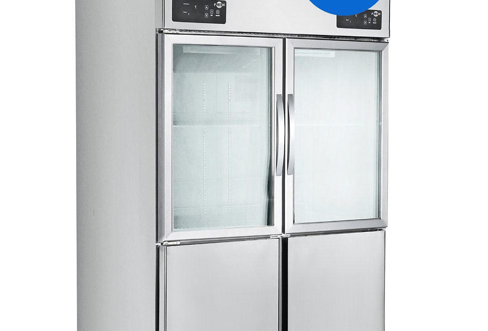 FRESH UPRIGHT COMBO FREEZER & CHILLER (STAINLESS STEEL)(STATIC COOLING)