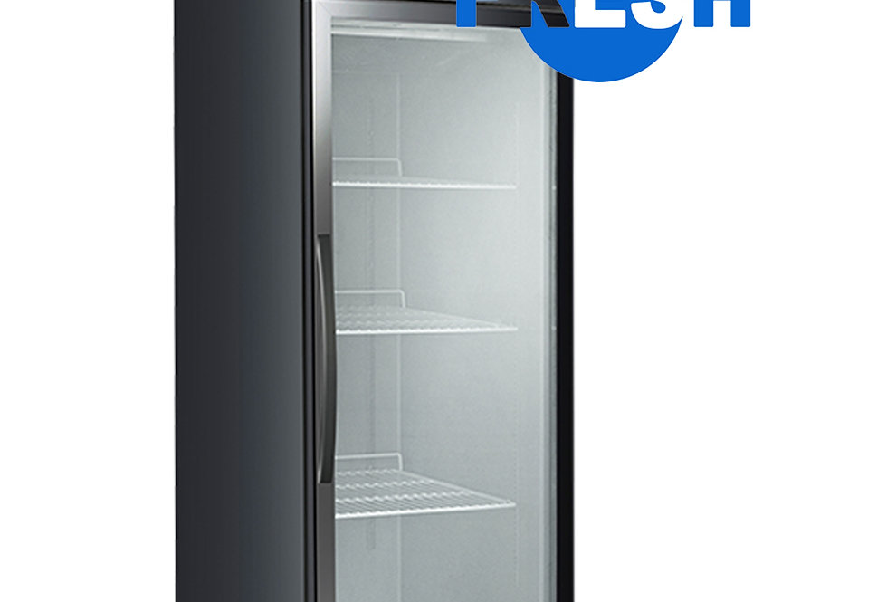 FRESH SINGLE-DOOR SHOWCASE FREEZER (BLACK STEEL)