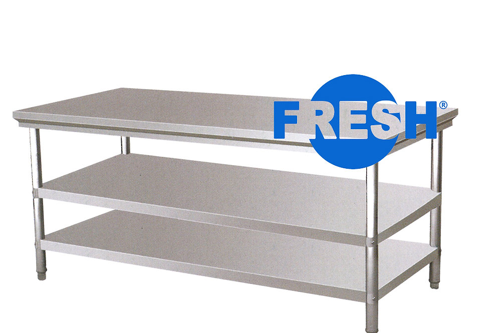FRESH WORKTABLE W/2 TIER UNDERSHELF