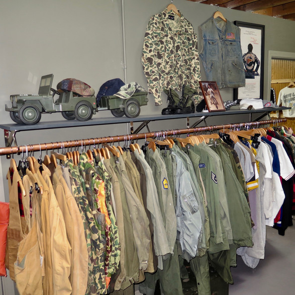 US Military vintage showroom