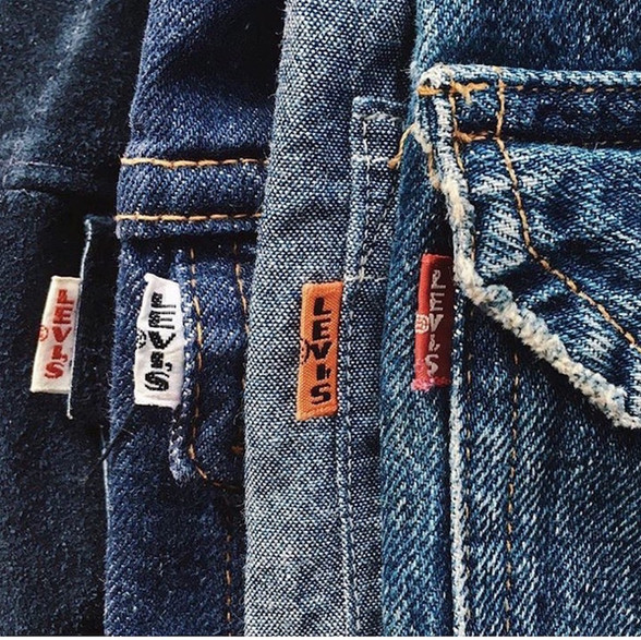 BIG E tab levi's red tab orange tab XX