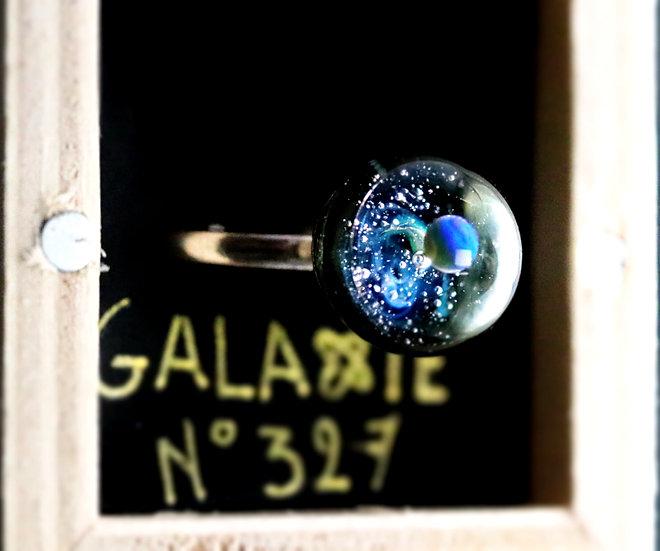 Bague galaxie en verre