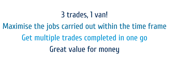 3 trades, 1 van! Maximise the jobs carri
