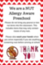 We are a NUT Allergy Aware preschool