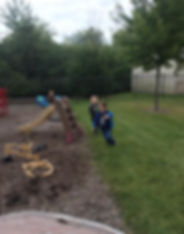 Enjoying the playground & outdoors