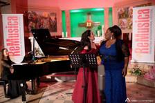 With Elbenita Kajtazi, and Elda Laro at the piano - ReMusica Festival - Kosovo