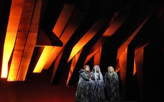 The three Norns - Wendy Bryn Harmer, myself, and Elizabeth Bishop - Gotterdammerung, The Metropolitan Opera