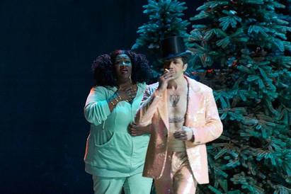 As Marthe, with Ildebrando D'arcangelo as Mephistopheles - Faust, Deutsche Oper Berlin
