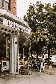"Pet Friendly Yellow Pages Vegan Café of the Butcher's Daughter is a plant-based 100% VEGETARIAN restaurant, filleting, chopping & carving fresh produce into robust vegetarian dishes with coffee, tea's,  juice bar & ""Vegetable Slaughterhouse""."