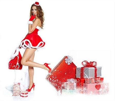 Christmas; Merry Christmas To All And To All A Good Night - Santa Claus