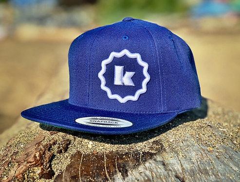 Sunny K Six-Panel Snapback Hat - Blue