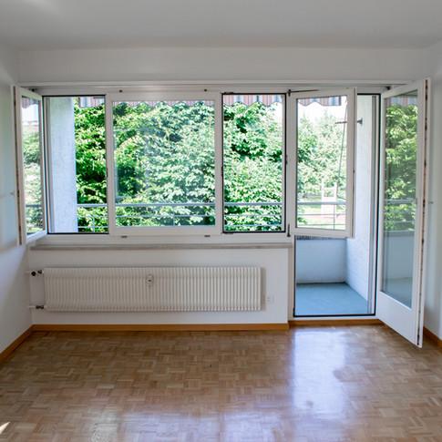 Ausbaustandard Zimmer und Balkon