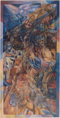 Deposition, Oil on Canvas, 87 X 44 inches, 1979