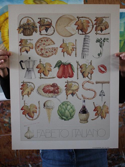 Italian Alphabet, Poster