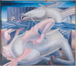 White Horse, Acrylic on Canvas,  47 X 55 inches, 2002
