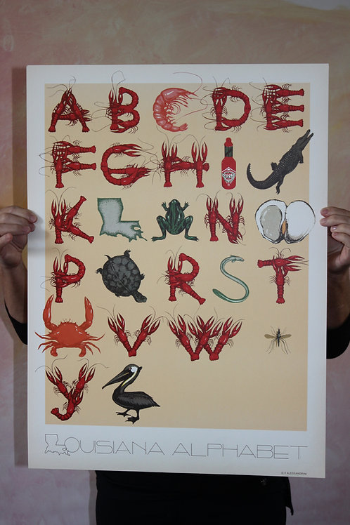 Louisiana Alphabet, Poster