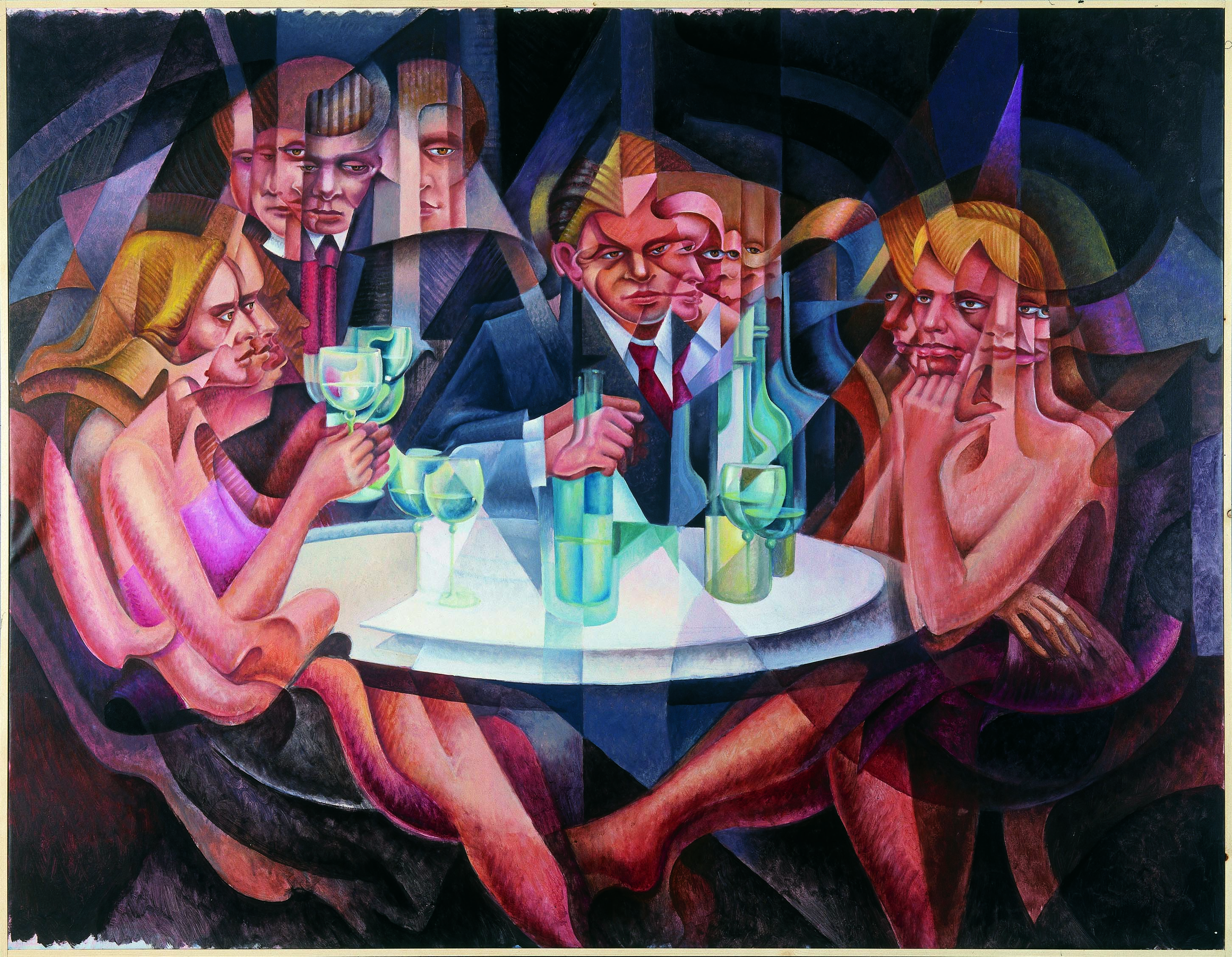 Wine Party, Oil on Canvas, 120X160cm, 1995