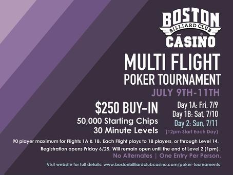 $250 Tournament Updates: Don't Get Shut Out!