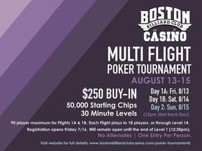 August $250 Multi-Flight Tournament Registration is OPEN!