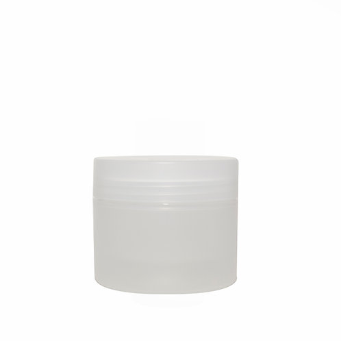 Natural Frosted Double-Wall Jar