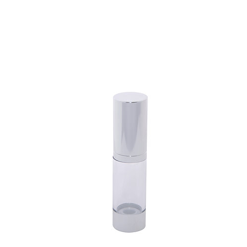 Shiny Silver Airless Lotion Bottle