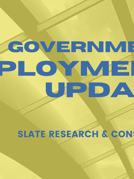 Government employment remains strong