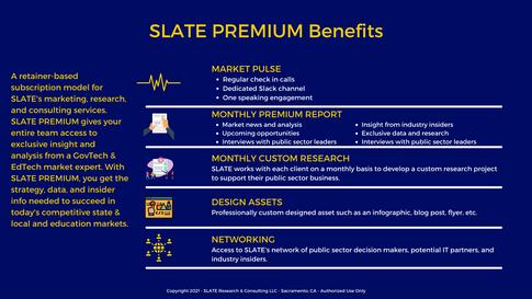 SLATE PREMIUM Benefits