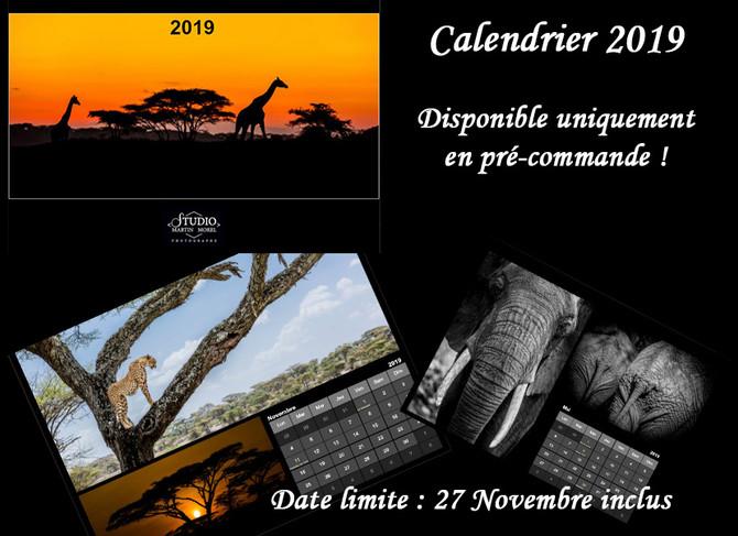 Le calendrier 2019 est arrivé !