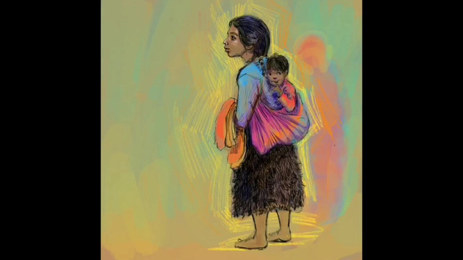 Chamula Woman with her son