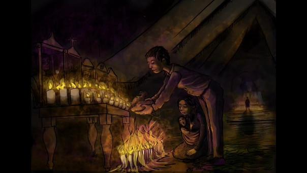 Prière dans l'eglise de San Juan Chamula