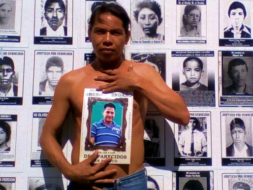 « In memory of my little brother Bruno and the 37,000 missing in Mexico »