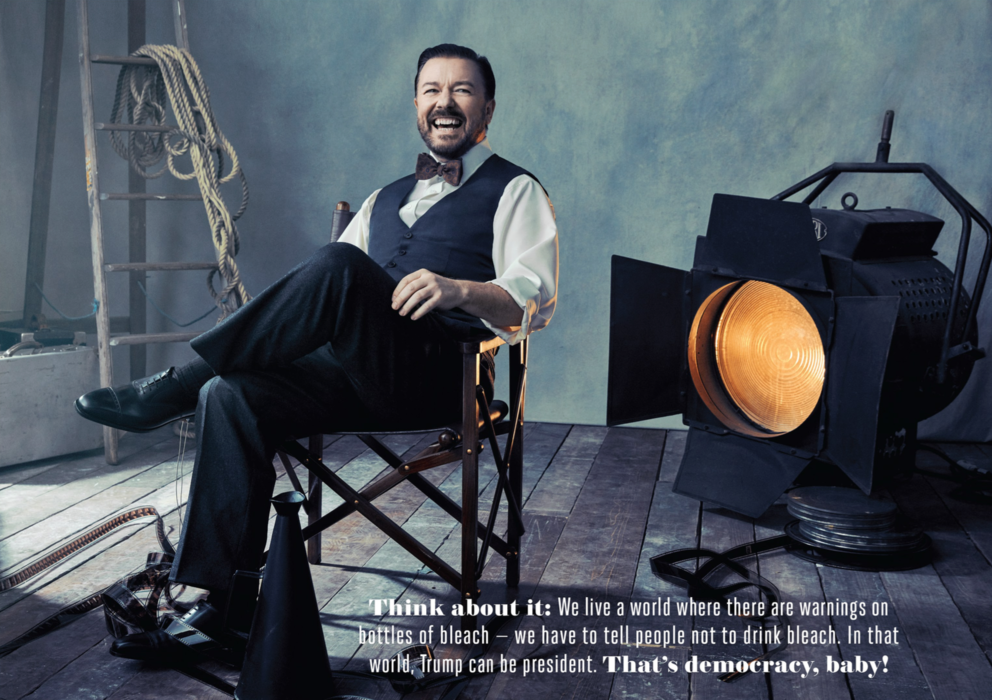 HOLLYWOOD REPORTER: 'RICKY GERVAIS'