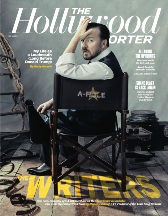 HOLLYWOOD REPORTER 'RICKY GERVAIS'