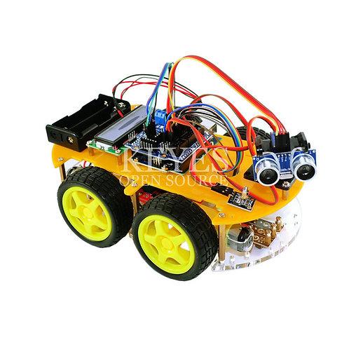 ערכה להרכבה רכב חכם 4 גלגלים עם חיישנים