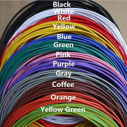 חוט אלק' רב-גידי לפי מטר בכל הצבעים