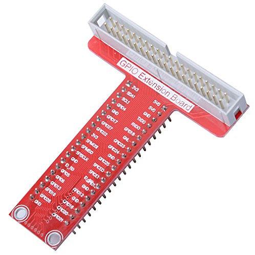 הרחבת GPIO 40 הדקים - אדום