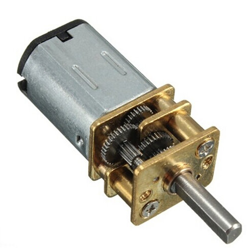 """מיקרו מנוע מתח ישר 12 וולט גיר מתכת 100 סל""""ד"""
