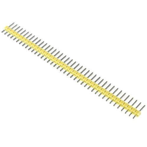 """מחבר שורה 40 הדקים 2.54 מ""""מ זכר בצבע צהוב"""