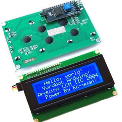 LCD 2004 I2C - תאורה אחורית כחולה