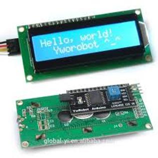 LCD 1602 I2C - תאורה אחורית כחולה