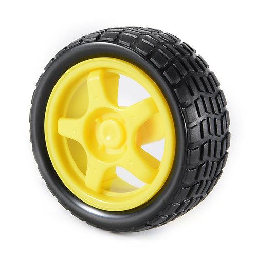 גלגל צהוב עבור מכונית חכמה