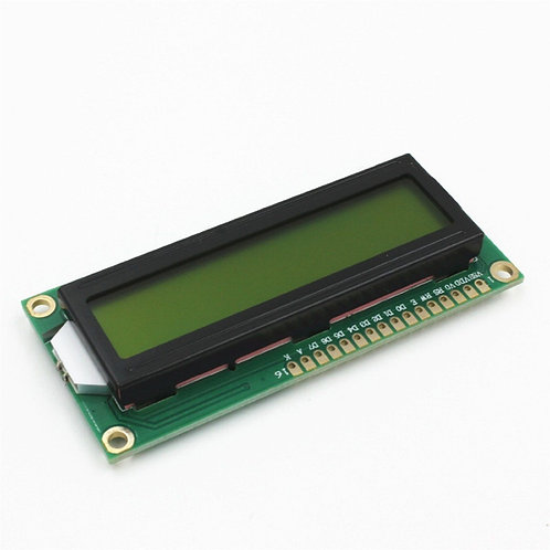 LCD 1602 - תאורה אחורית צהובה