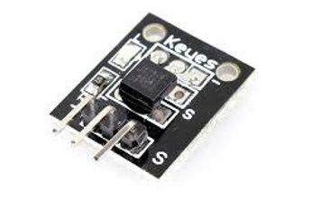 מעגל זיהוי טמפ' - חיישן DS18B20