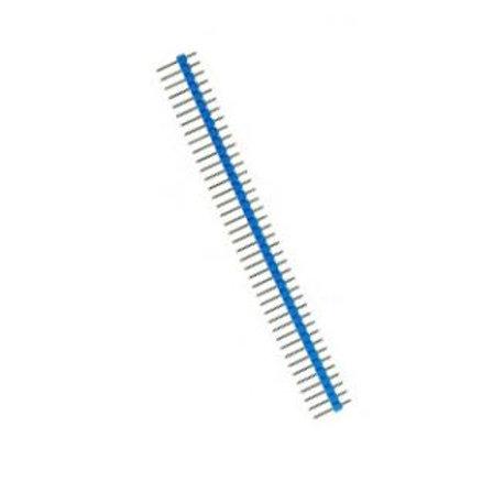 """מחבר שורה 40 הדקים 2.54 מ""""מ זכר בצבע כחול"""