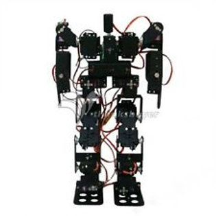 Not Assembly Full Set 17DOF Biped Robot Educational Robotic Kit with Metal Horn+