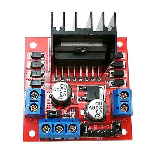 L298N - לוח בקר מנועים - אדום