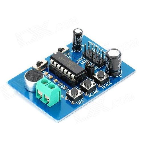 מעגל מקליט קול ISD1820 עם טרמינל