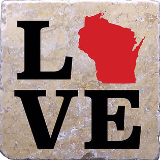 Love Wisconsin Coaster