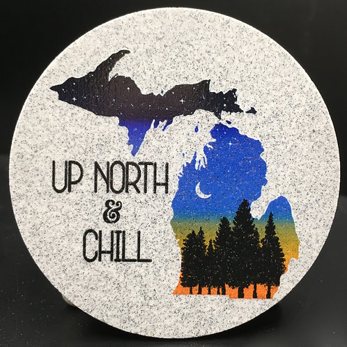 Car Coaster 2-Pack -Michigan Up North & Chill Twilight