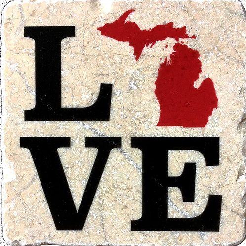 Love Michigan Coaster